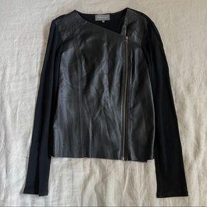 MICHAEL STARS Mix Leather Moto Jacket